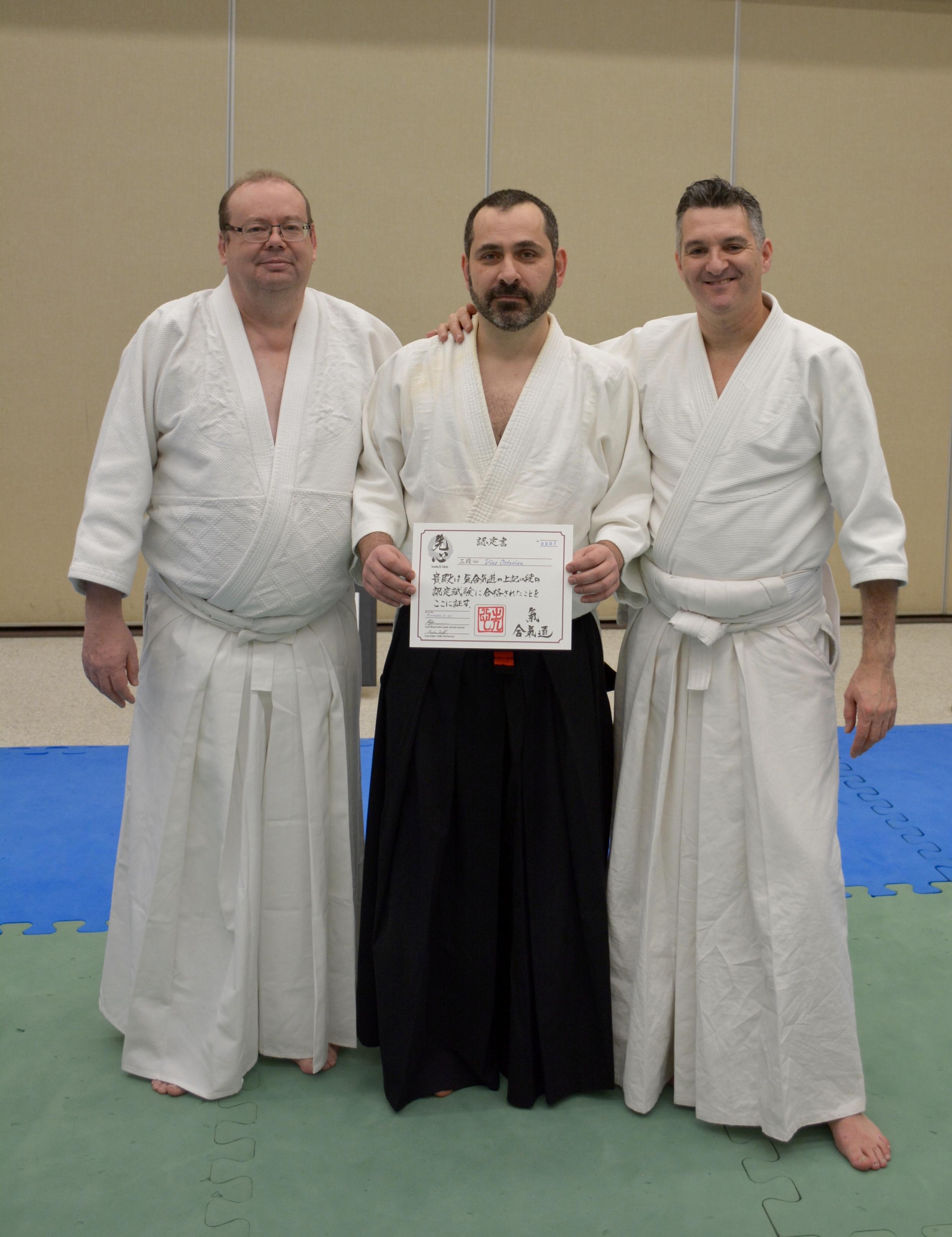 Dino Octavian with 3rd Dan certificate